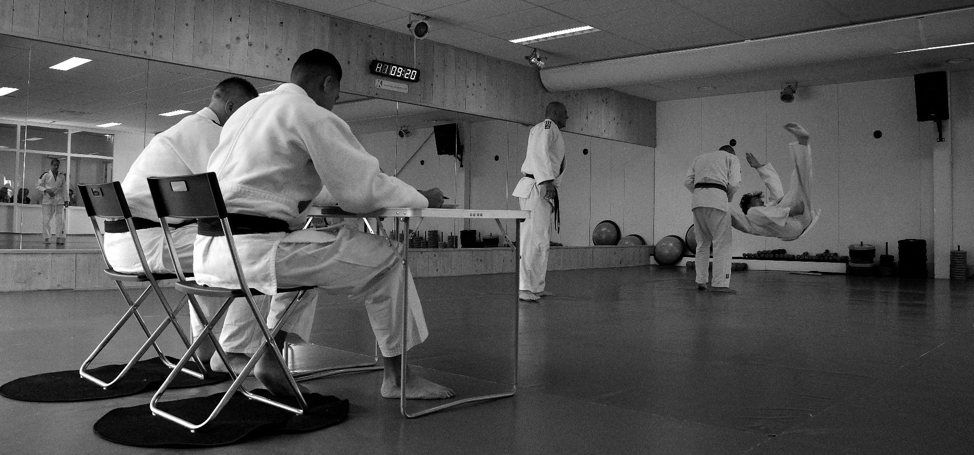 jiu-jitsu examen in de dojo